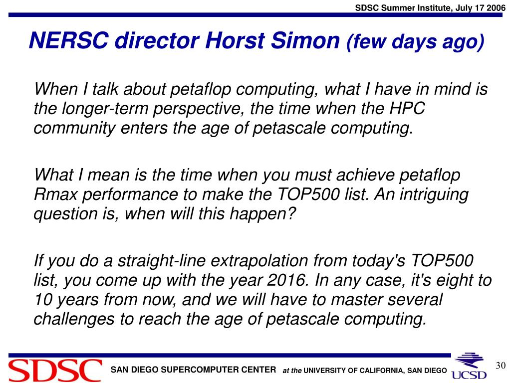 NERSC director Horst Simon