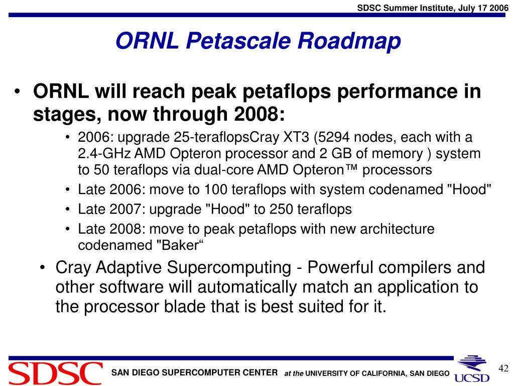 ORNL Petascale Roadmap