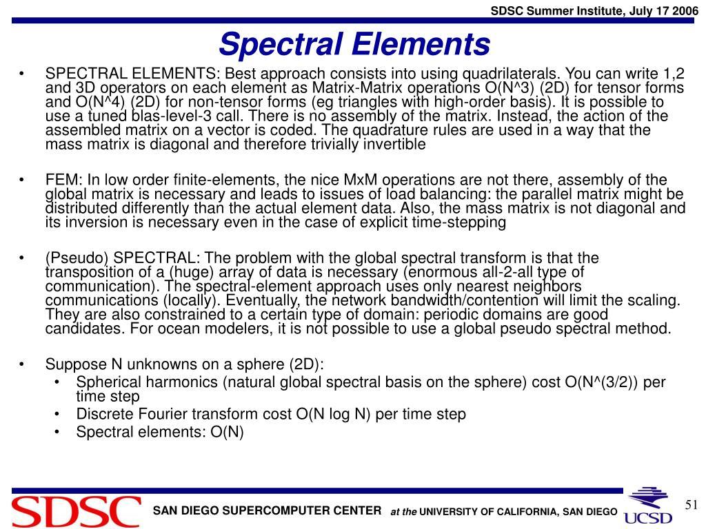 Spectral Elements