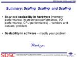 summary scaling scaling and scaling