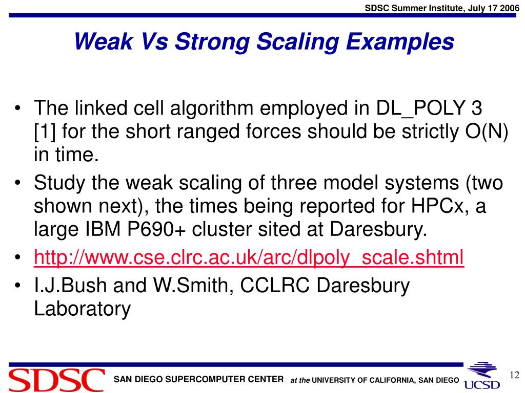 Weak Vs Strong Scaling Examples