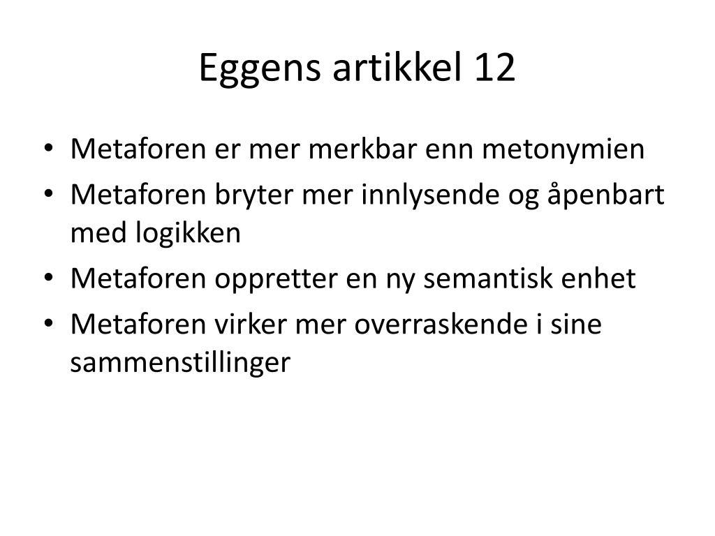 Eggens artikkel 12