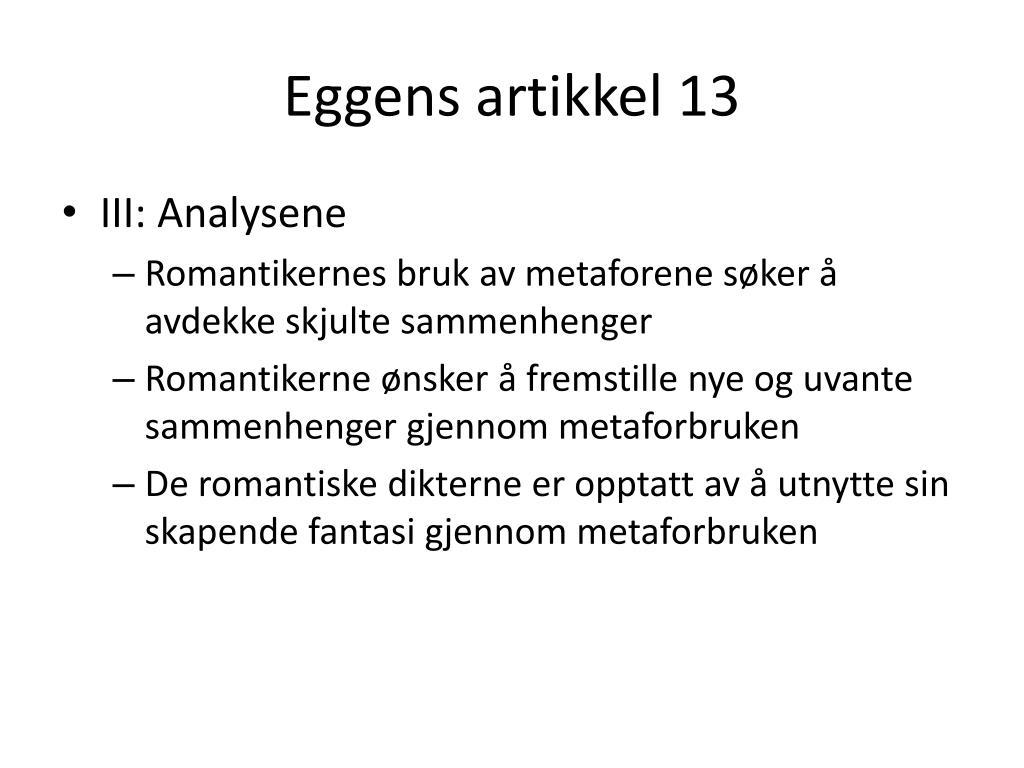 Eggens artikkel 13