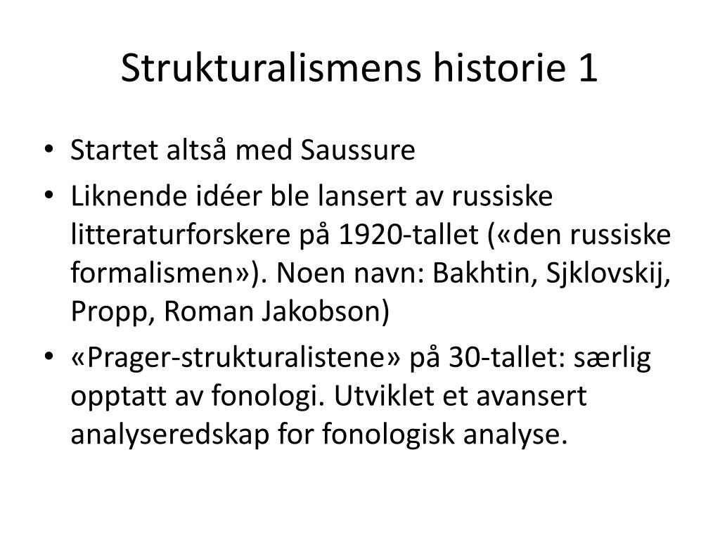 Strukturalismens historie 1