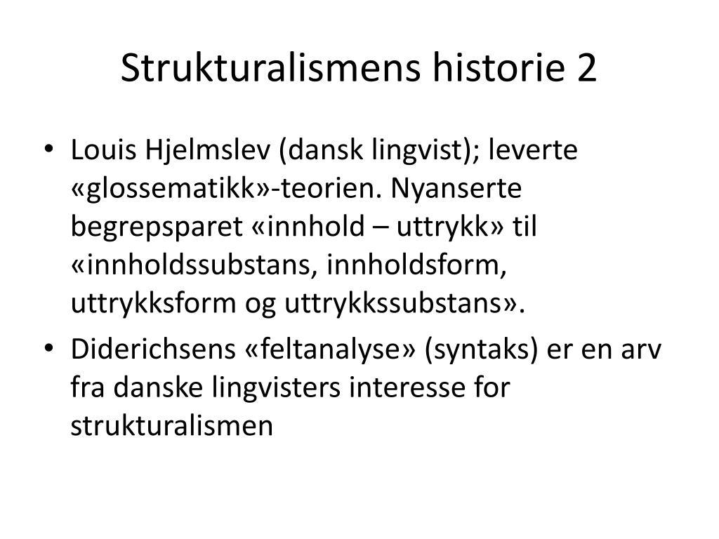 Strukturalismens historie 2