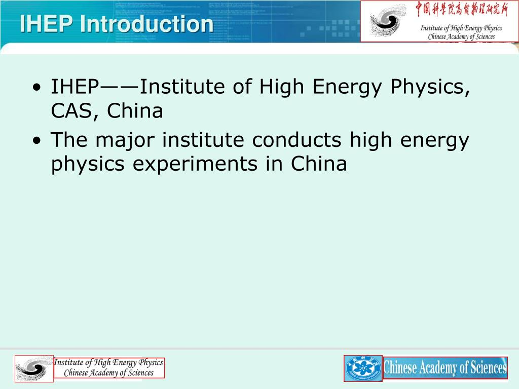IHEP Introduction
