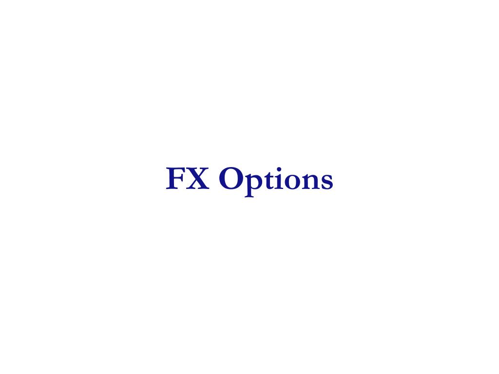 Fx options board