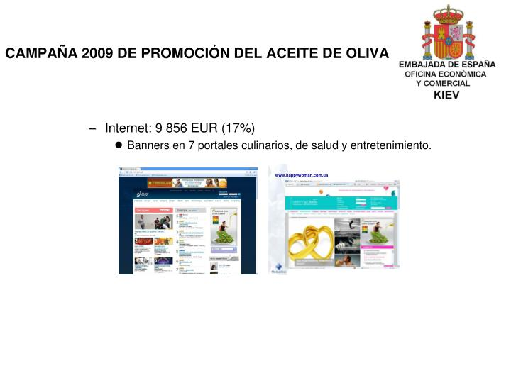 CAMPAÑA 2009 DE PROMOCIÓN DEL ACEITE DE OLIVA
