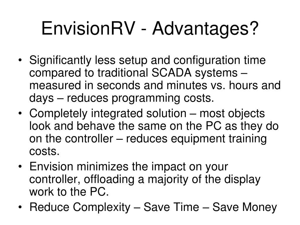 EnvisionRV - Advantages?