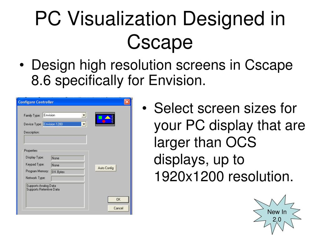PC Visualization Designed in Cscape
