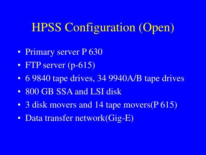 HPSS Configuration (Open)