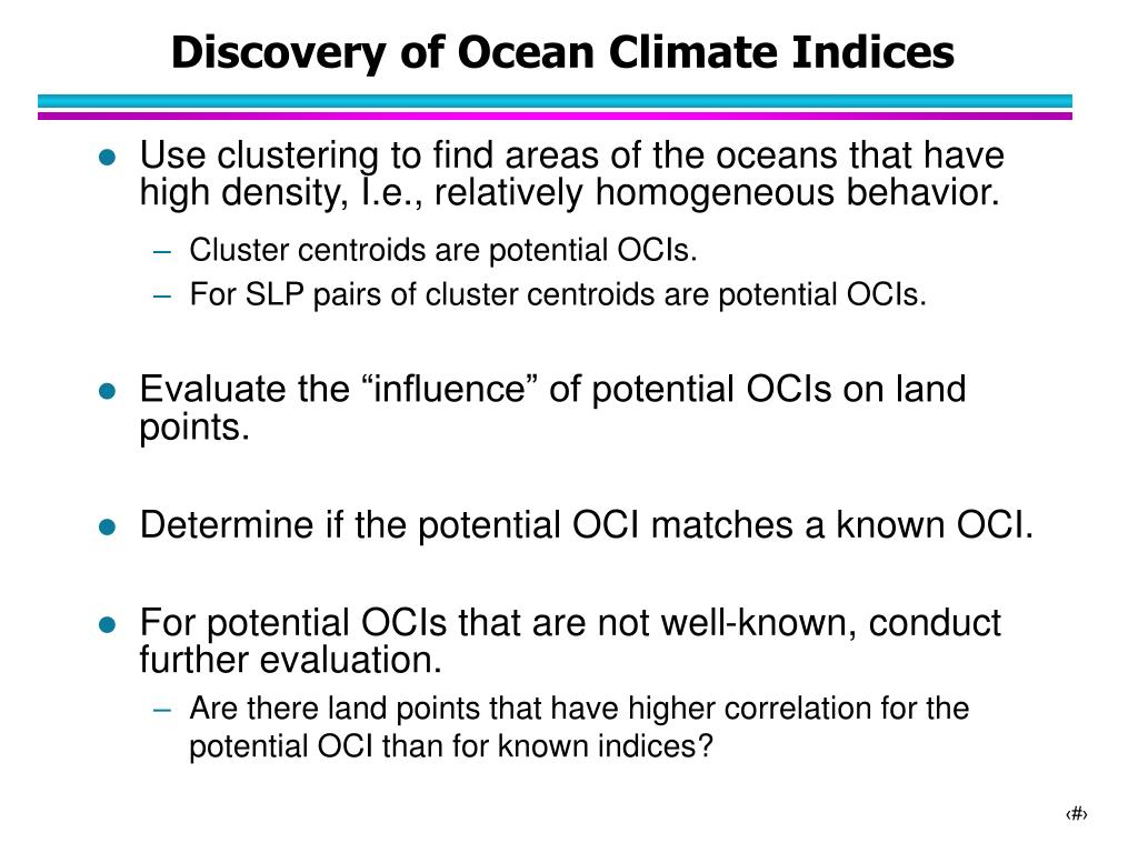 Discovery of Ocean Climate Indices