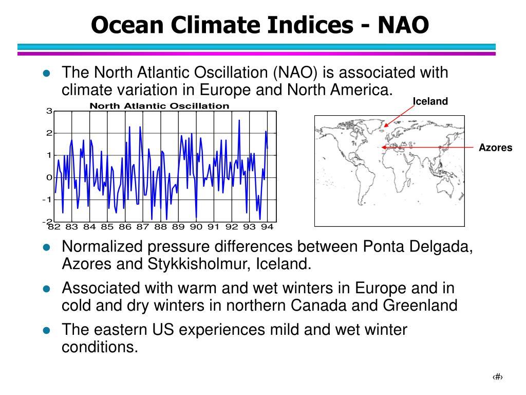 Ocean Climate Indices - NAO