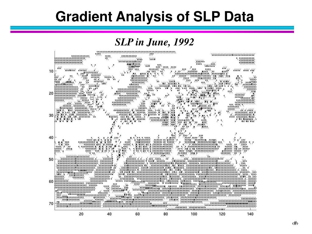 Gradient Analysis of SLP Data