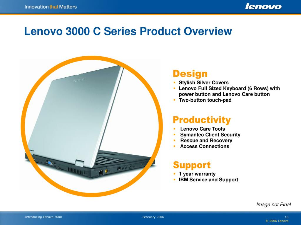 Lenovo 3000 C Series Product Overview