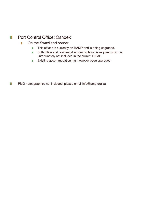 Port Control Office: Oshoek