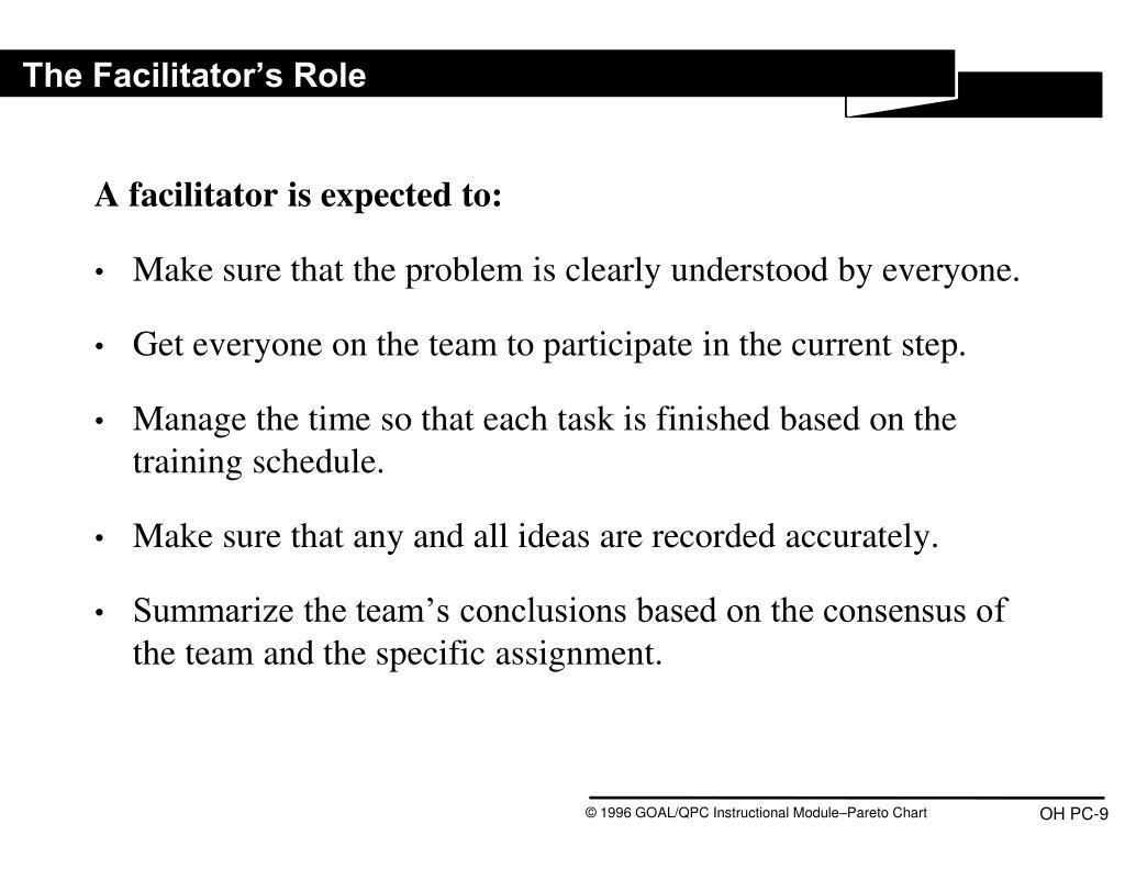 The Facilitator's Role
