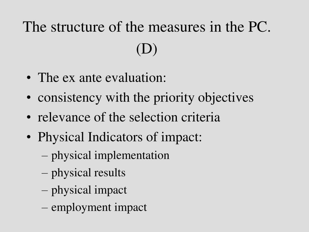 The structure of the measures in the PC. (D)