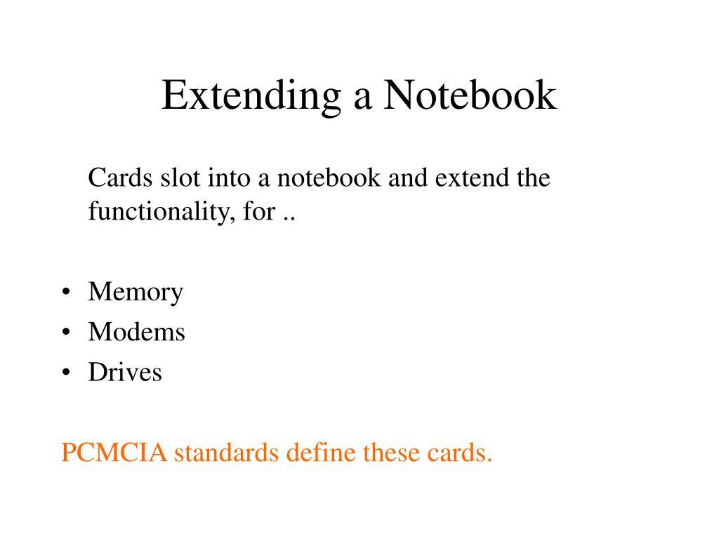 Extending a Notebook