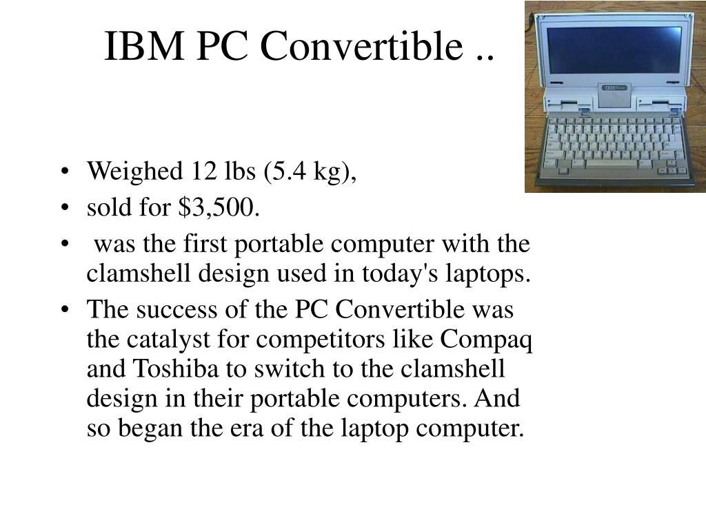 IBM PC Convertible ..