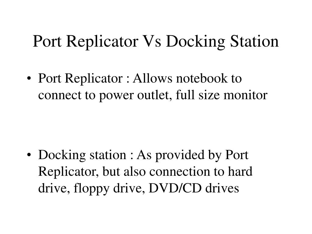 Port Replicator Vs Docking Station