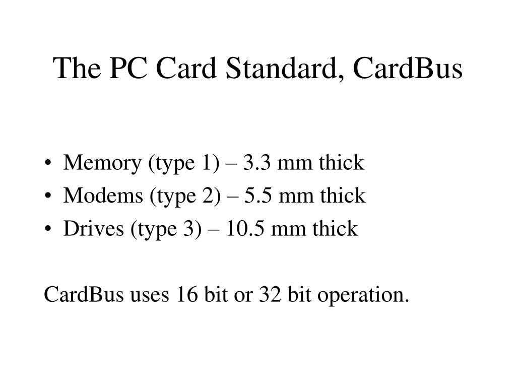 The PC Card Standard, CardBus