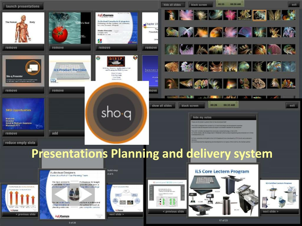 Presentations Planning and delivery system