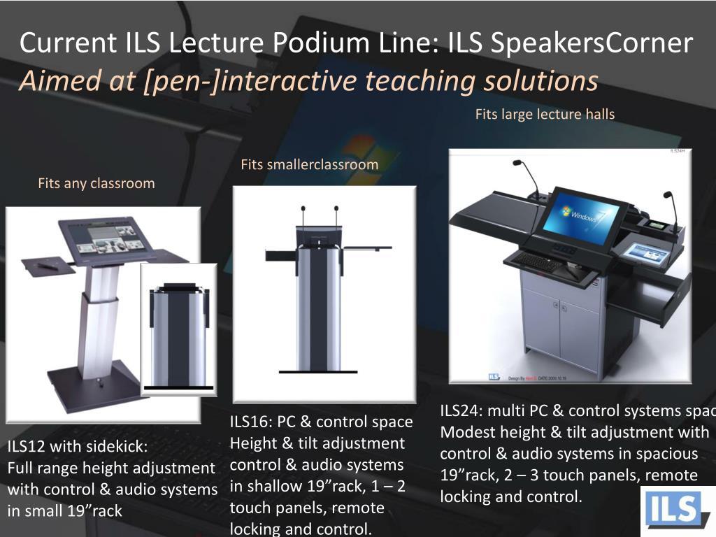 Current ILS Lecture Podium Line: ILS SpeakersCorner