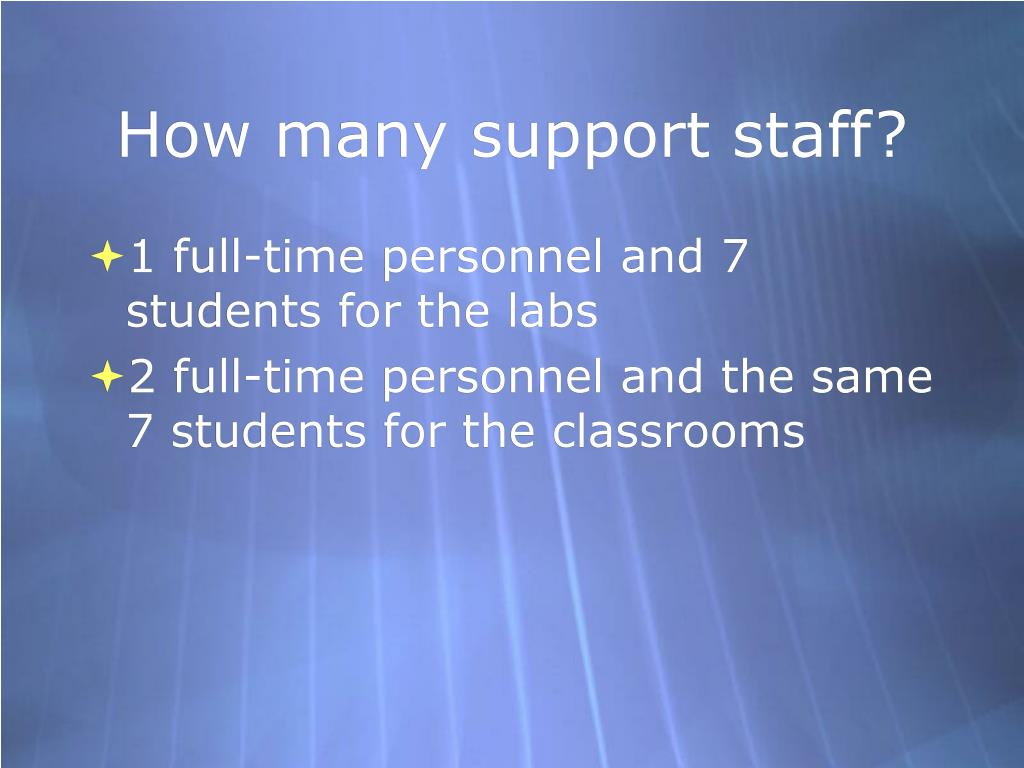 How many support staff?
