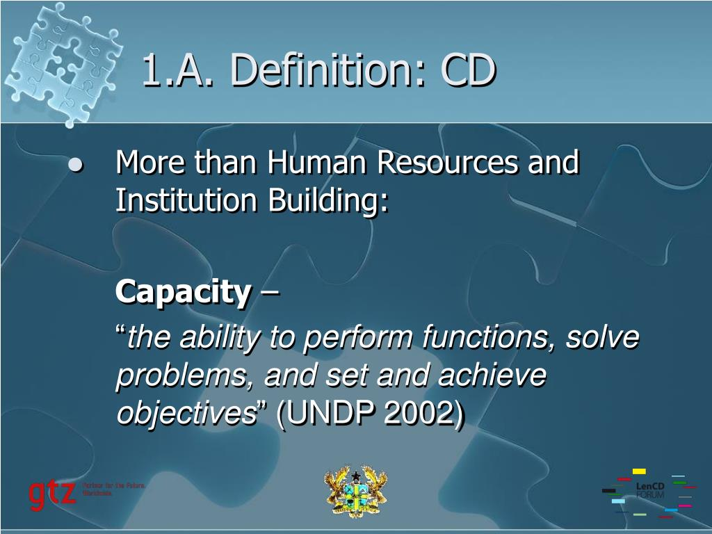 1.A. Definition: CD