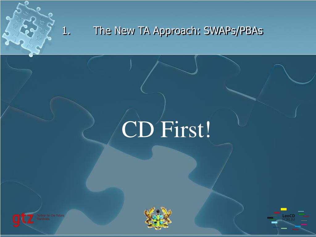 1.The New TA Approach: SWAPs/PBAs