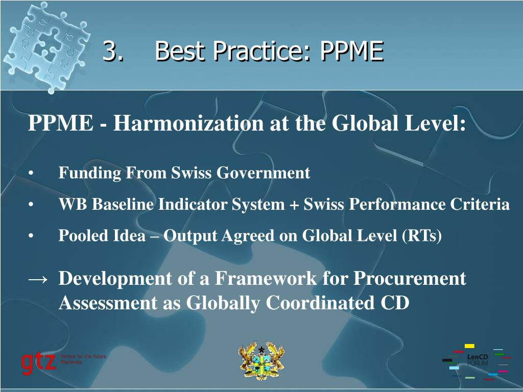 3.Best Practice: PPME