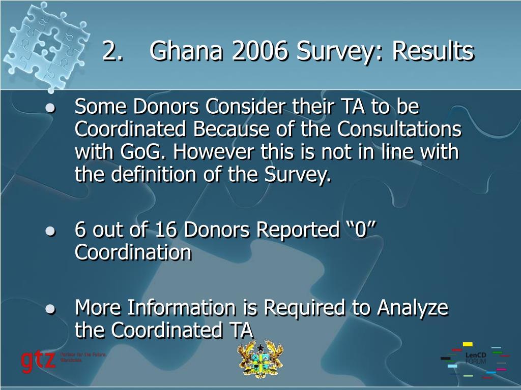 Ghana 2006 Survey: Results