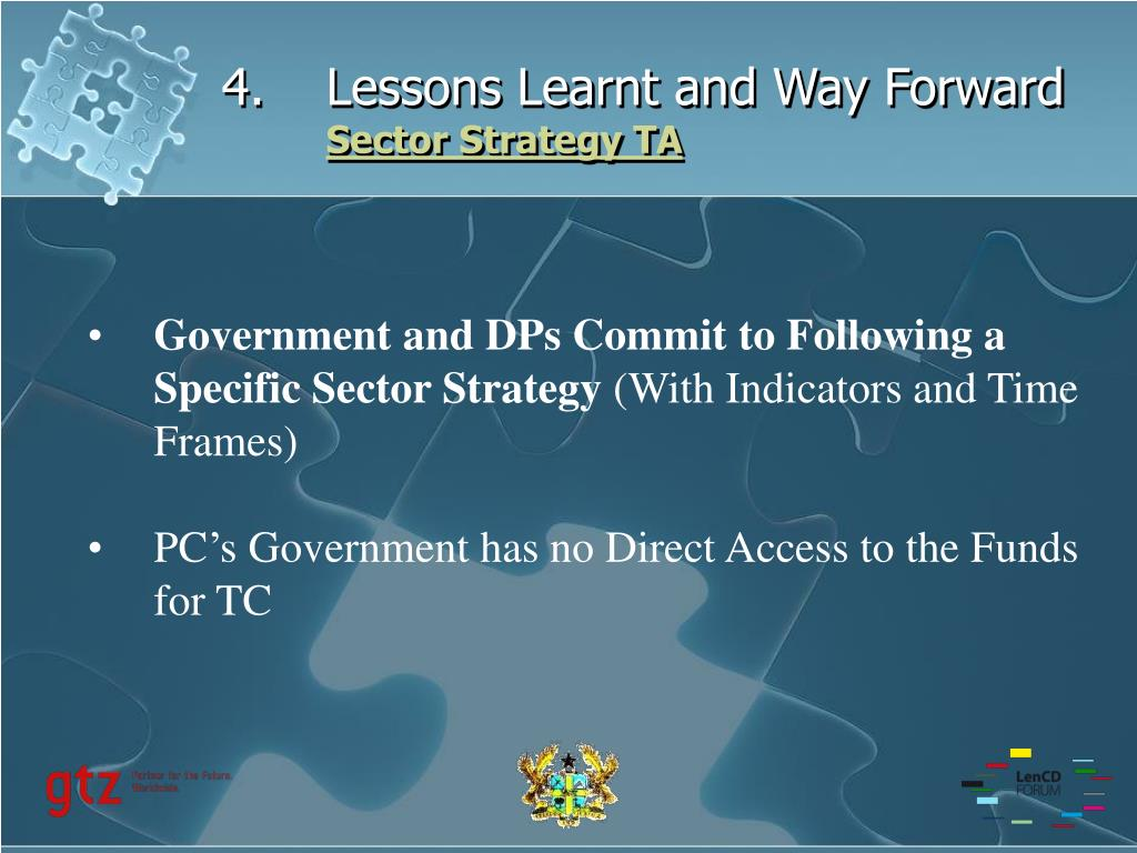 Lessons Learnt and Way Forward