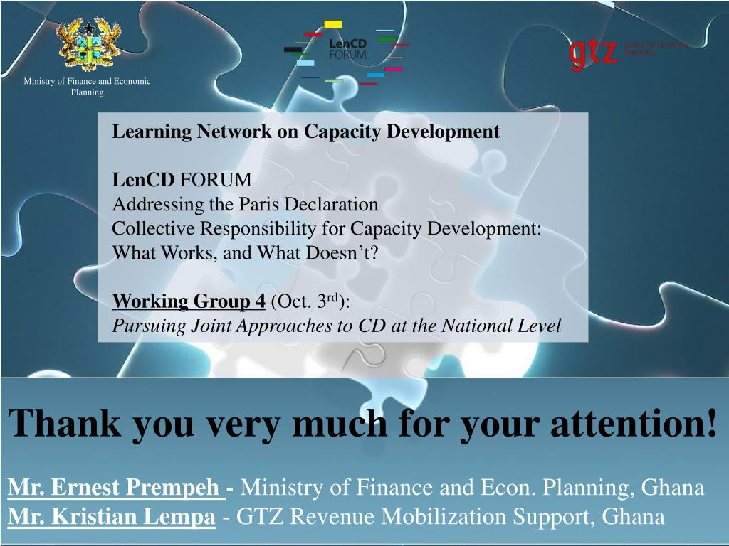 Learning Network on Capacity Development