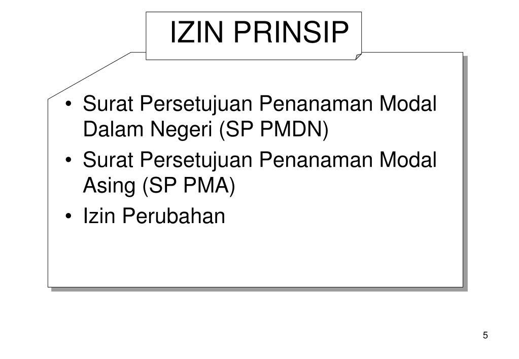 IZIN PRINSIP