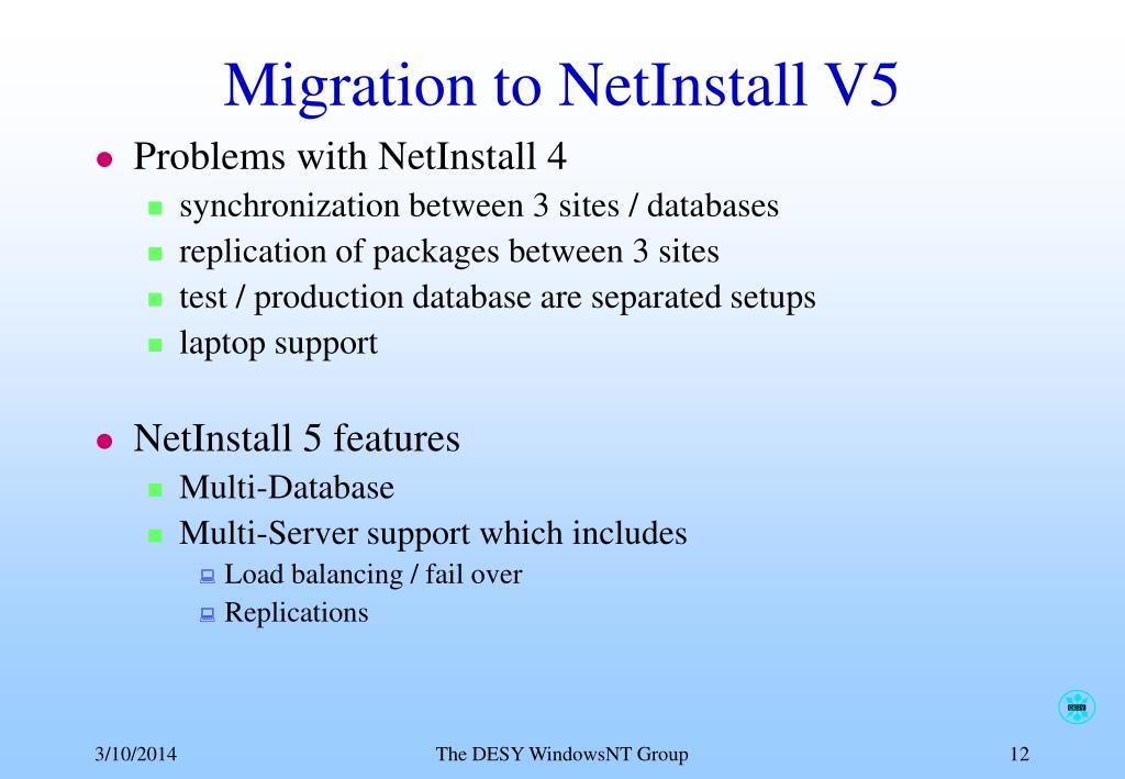 Migration to NetInstall V5