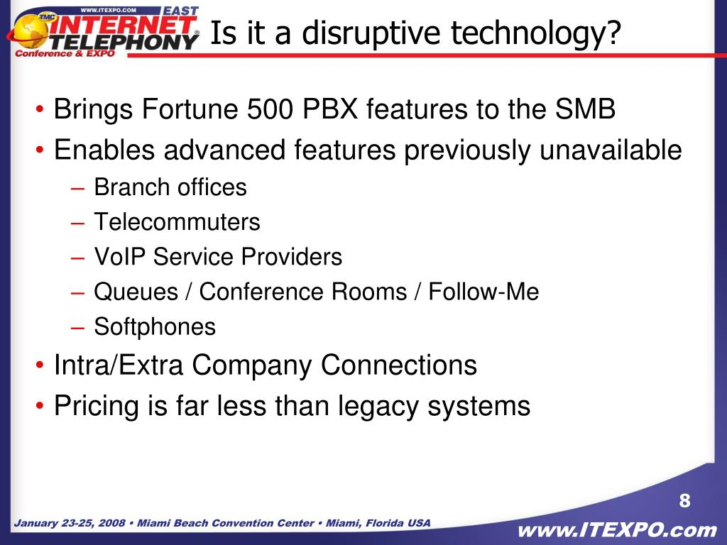 Is it a disruptive technology?
