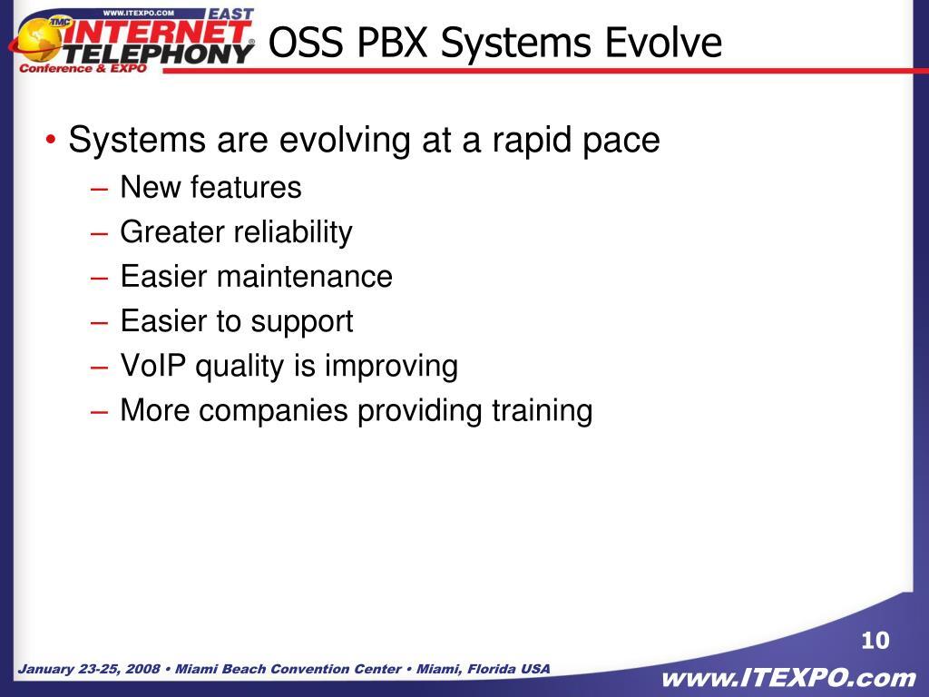 OSS PBX Systems Evolve