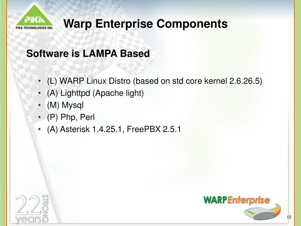 Warp Enterprise Components