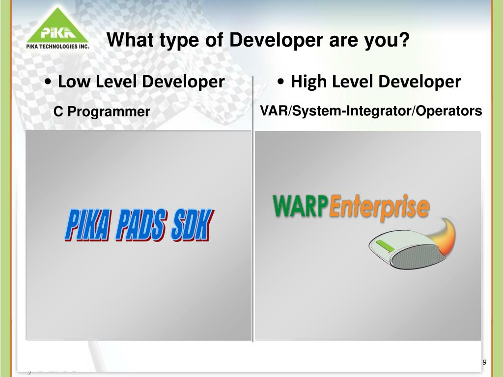 What type of Developer are you?