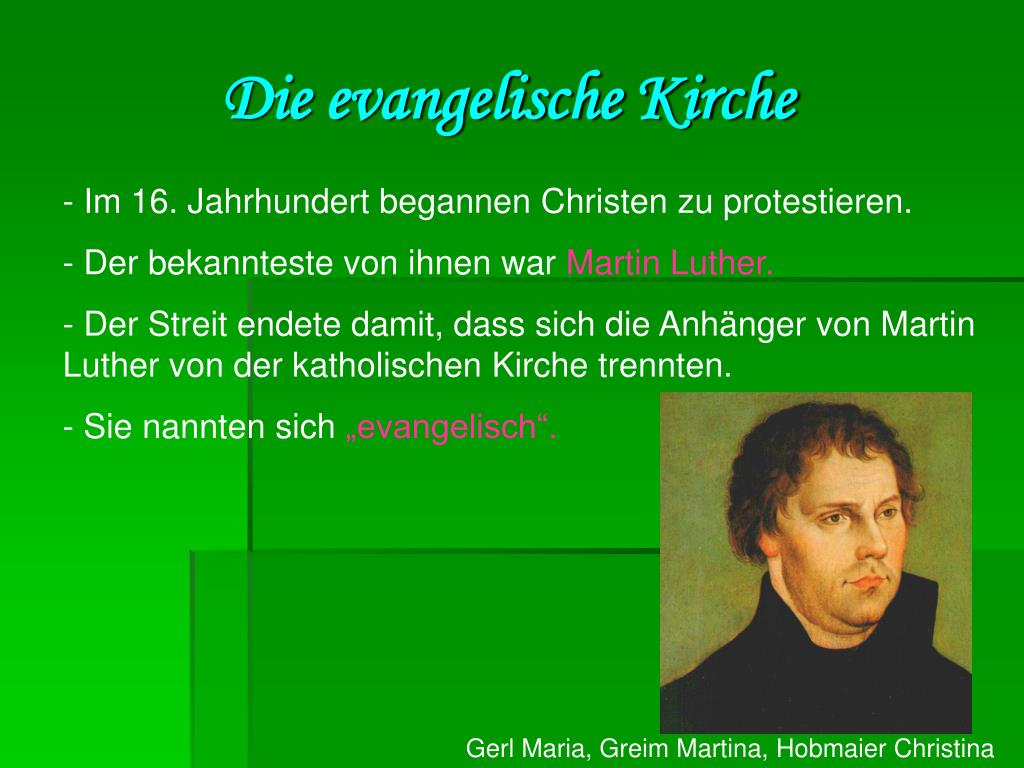 Die evangelische Kirche