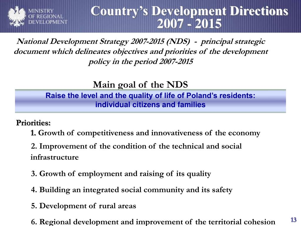 Country's Development Directions 2007 - 2015