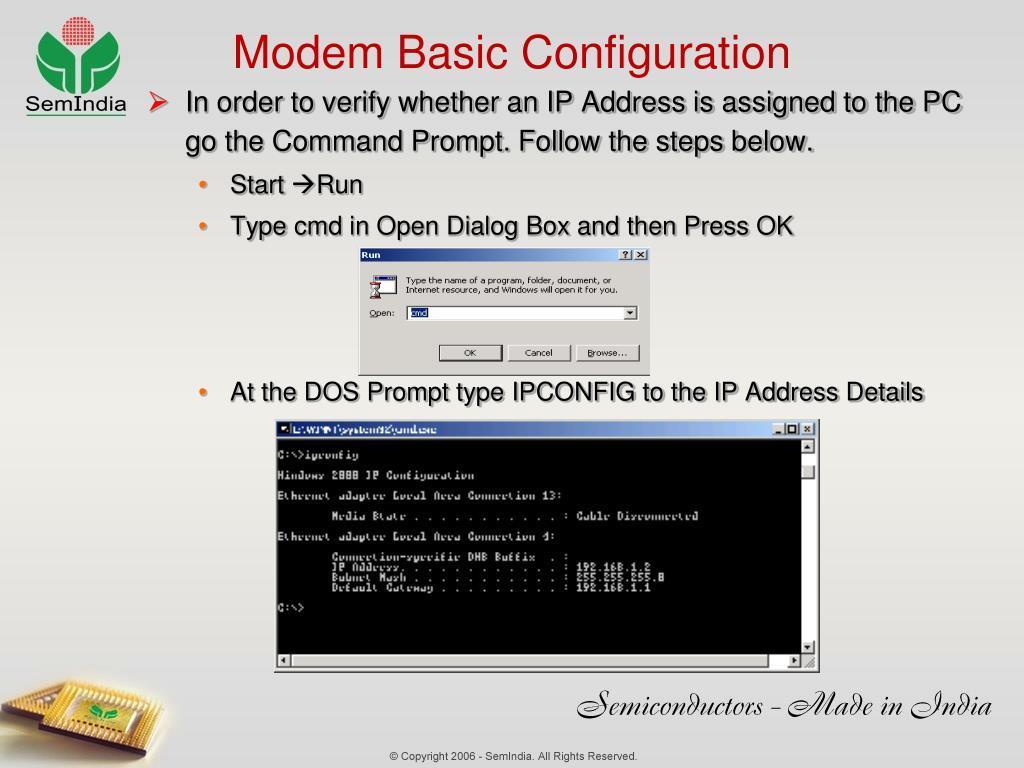 Modem Basic Configuration