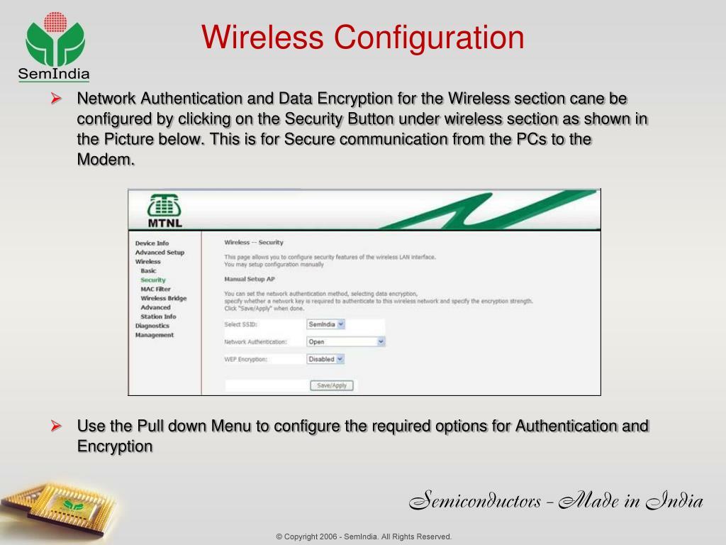 Wireless Configuration