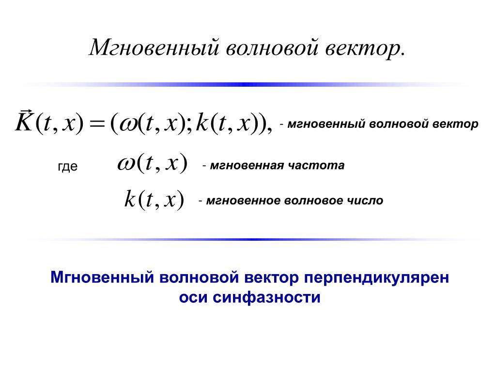 Мгновенный волновой вектор.