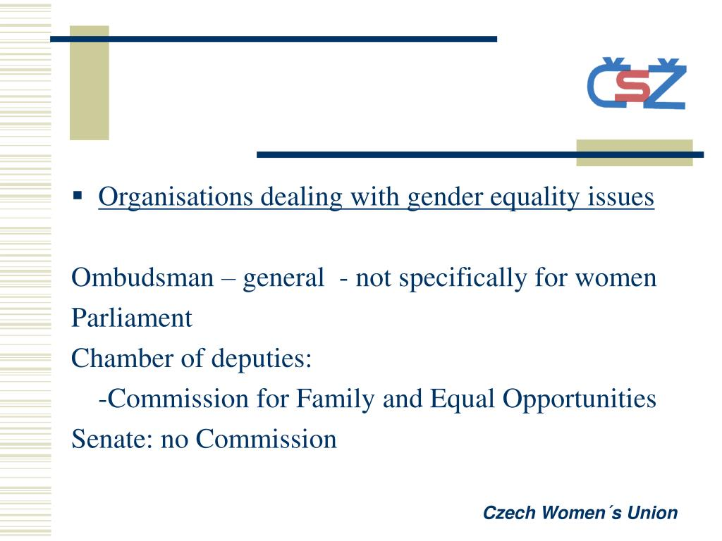 Organisations dealing with gender equality issues