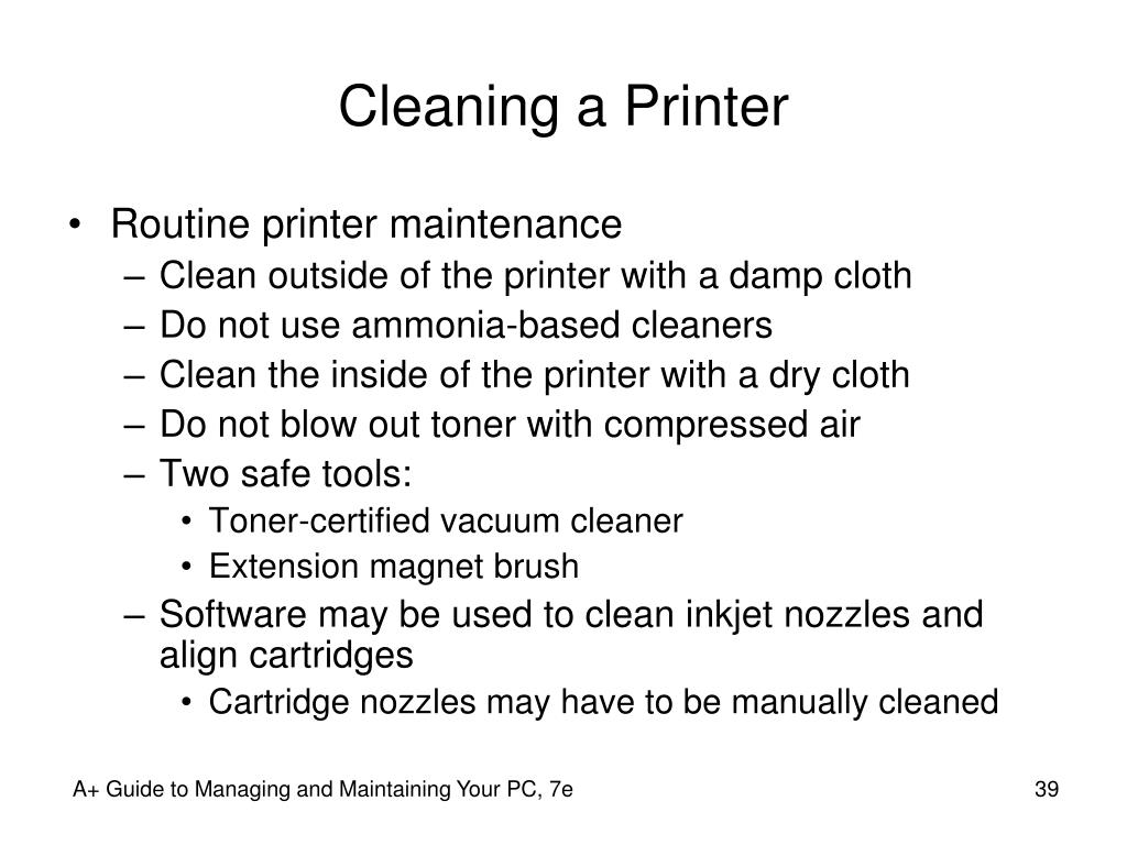 Cleaning a Printer