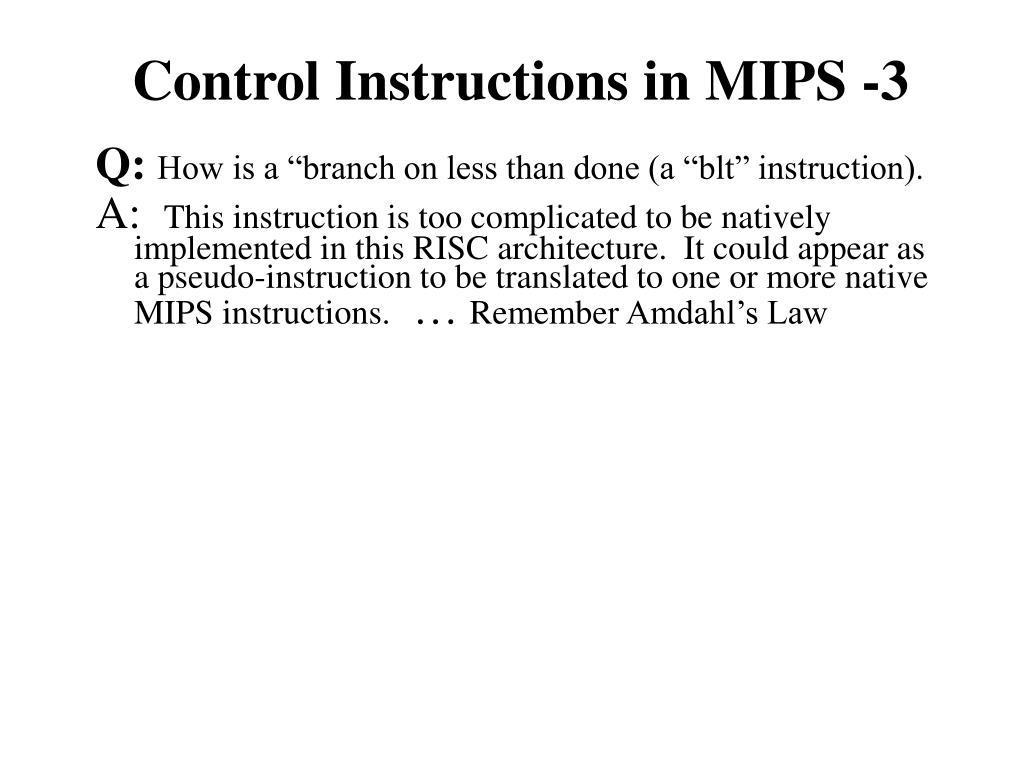 Control Instructions in MIPS -3