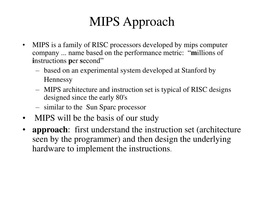 MIPS Approach